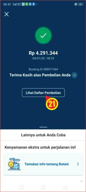 indikator pembayaran tiket ke Traveloka telah berhasil.jpg