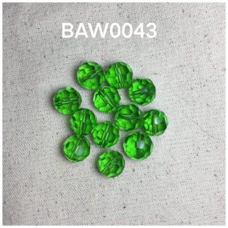 Kristal bulat 10 mili,emerald green