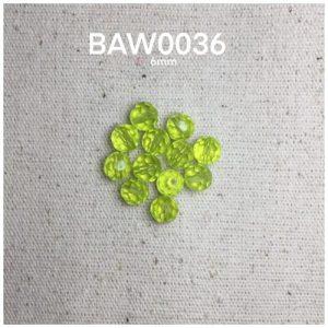 Manik kristal hijau muda 6 mili