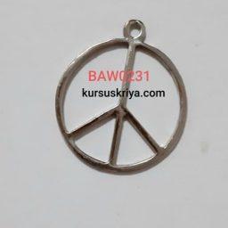 Charm peace besar silver