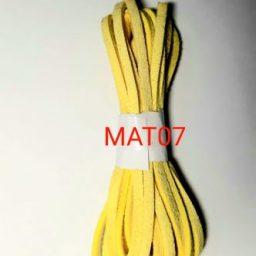 Tali flat imitasi suede neon yellow