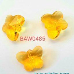 Manik kristal austria kupu kupu gold yellow