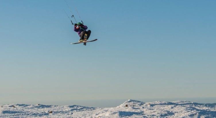 Orava Snowkite Challenge - freestyle ski