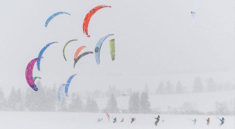 Orava Snowkite Challenge - full race