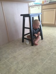 Gets himself stuck in the most random places