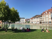 A relaxing afternoon in Lille, France.