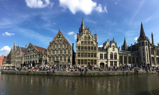Savouring this magnificent view in Gent, Belgium.