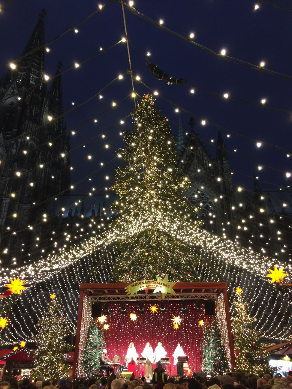 Christmas market in Cologne, Germany.