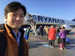 Photobombed by a friendly Ryan Air ground crew in Eindhoven, the Netherlands.