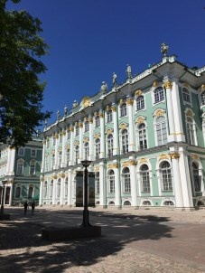 The Winter Palace in Saint Petersburg, Russia.