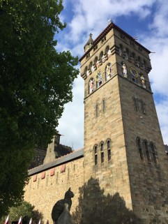 The Clock Tower of the Cardiff Castle in Cardiff, Wales.