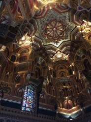 The magnificent Arab Room at Cardiff Castle in Cardiff, Wales.