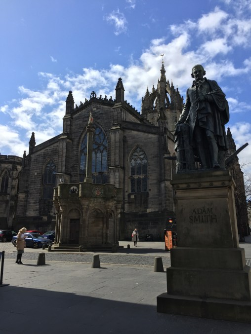 The Father of Modern Economics, Adam Smith in Edinburgh, Scotland.