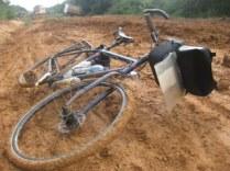 Bike in mud