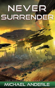 TKG15 NEVER Surrender Full Cover 700px