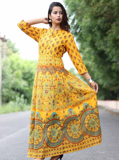Pure Cotton Kurti in Mughal Print