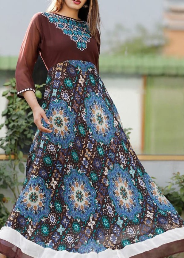 long gown Fabric Georgette