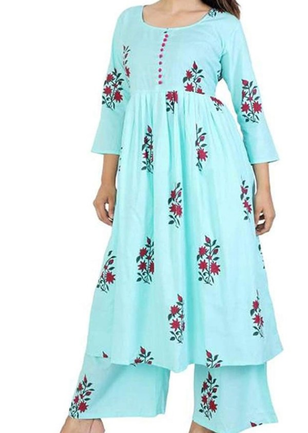 Long gown in georgette fabric [1091]