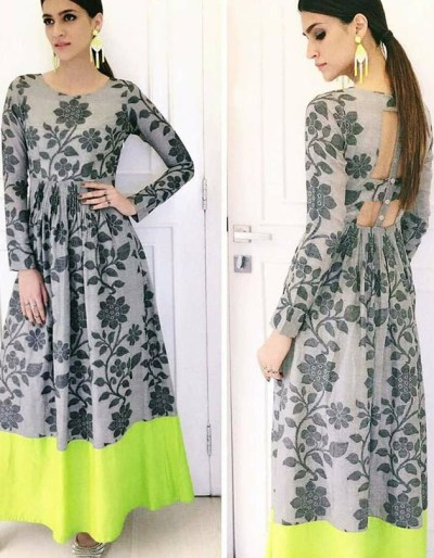 Silk Kurti with digital print