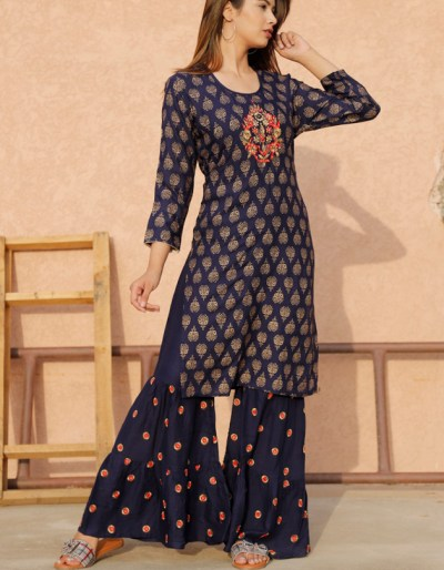 KURTI WITH BEAUTIFUL