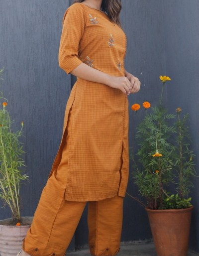 Imported fabric orange kurti