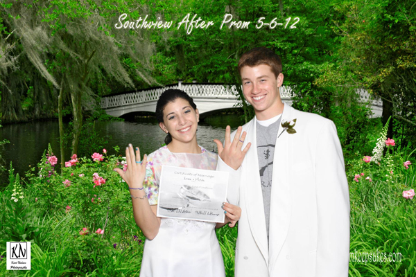 Green Screen Event Photography For Prom