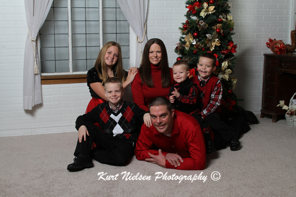 Family Christmas Photo Studio Kurt Nielsen Photography