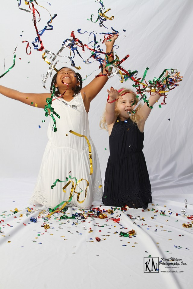 confetti photo shoot with Kurt Nielsen photography