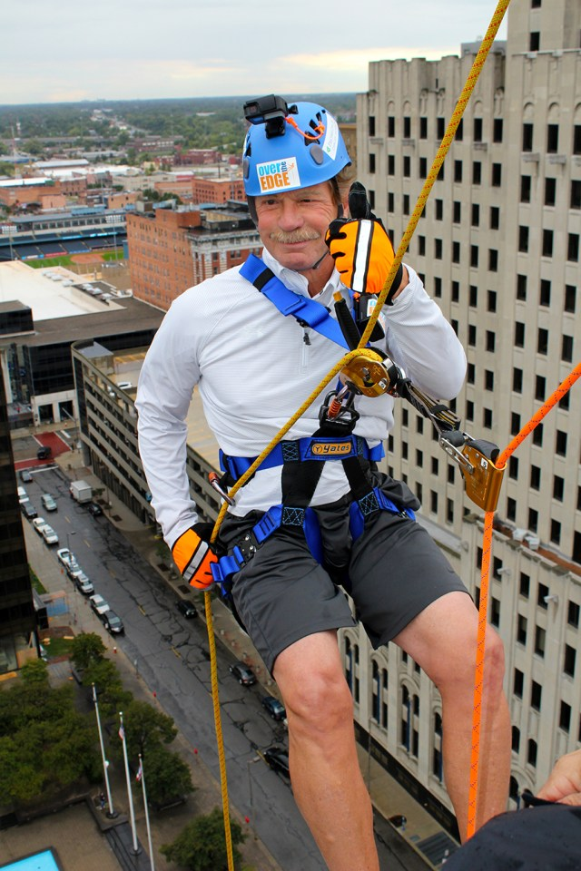 ProMedica's Randy Oostra rappelling
