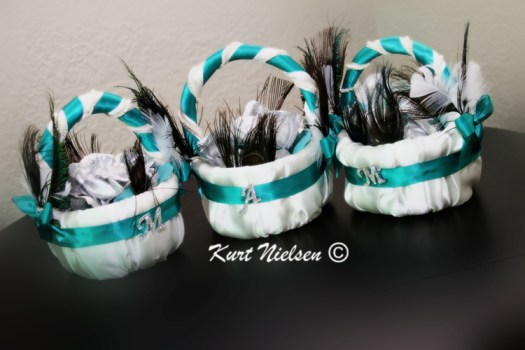 Decorated Flower Girl Baskets