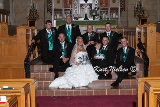 Groomsmen with Bride photos