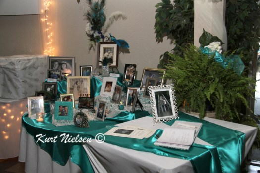 Memory Table for Wedding Reception