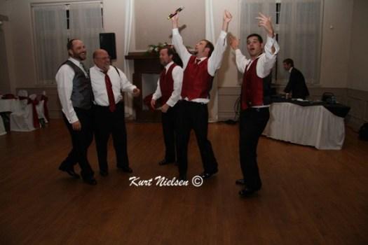 Having Fun at a wedding