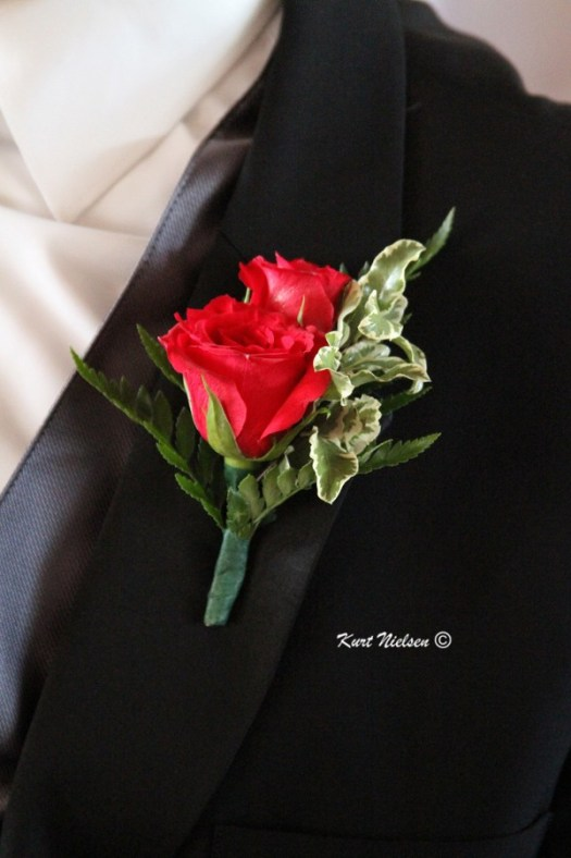 Groom's Red Rose Boutonniere