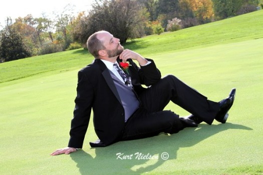 Funny poses for groom
