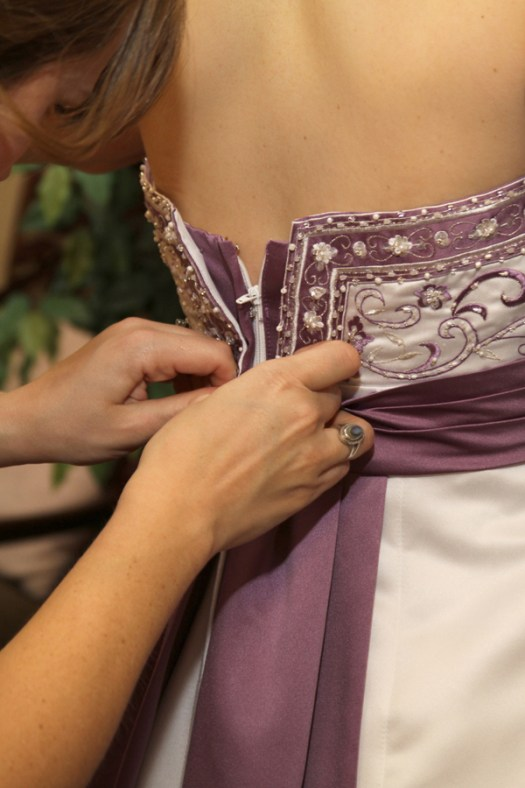 Wisteria Purple Renaissance Wedding Dress