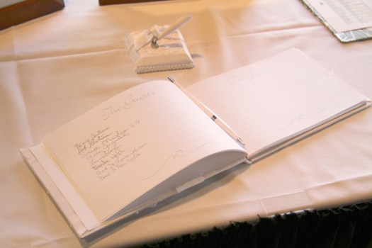Traditional Wedding Guest Book