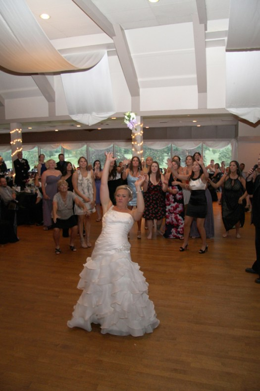 Tossing the Bouquet at weddings