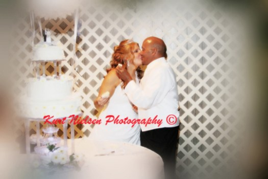 kiss after cutting the cake