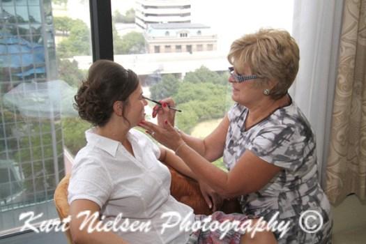 bride's makeup artist