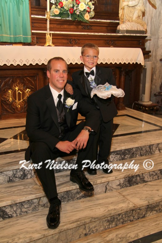 groom with the ring bearer