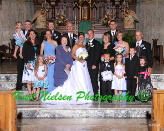 bride's family photo