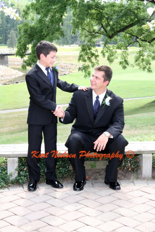 groom and ring bearer pictures
