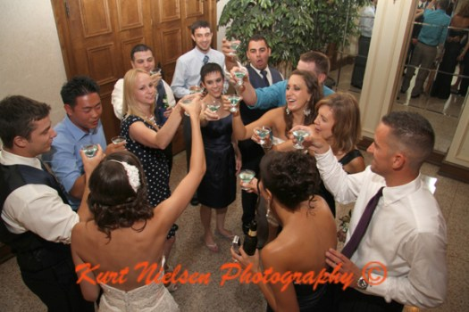wedding toast with signature cocktail