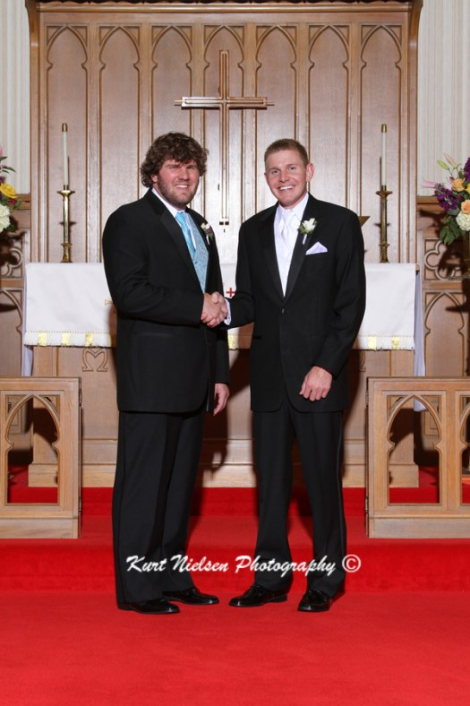 best man and groom photos