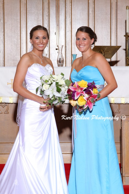 Blue Bridesmaids dresses long