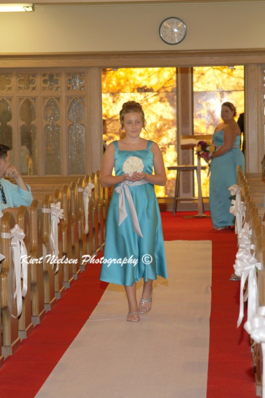 light blue junior bridesmaids dress