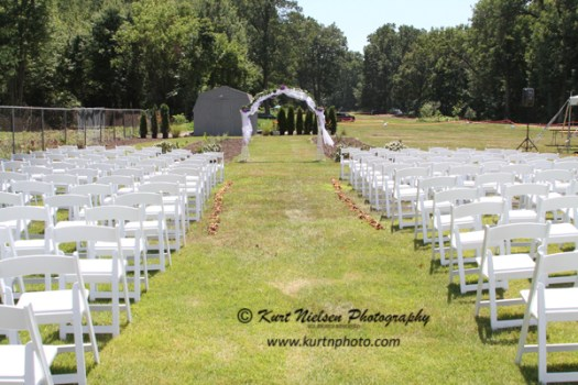 backyard wedding seating