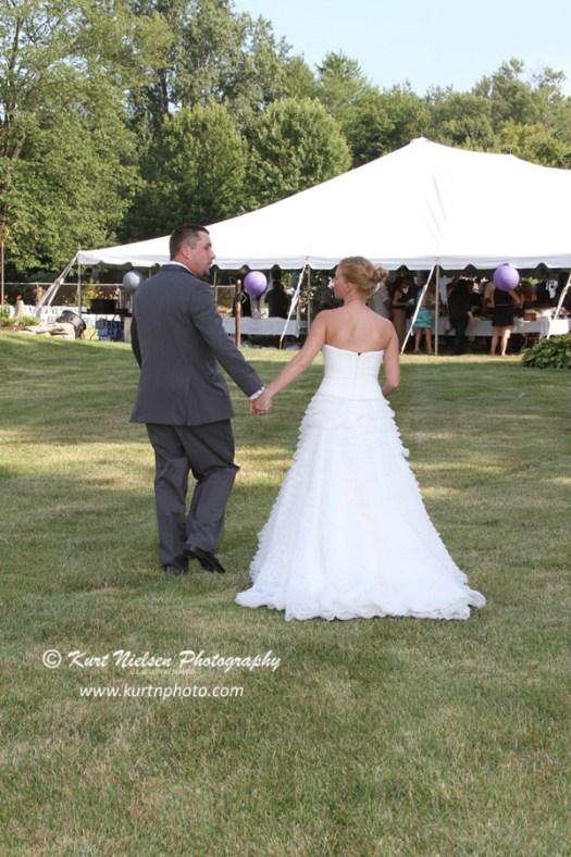 backyard wedding under a tent