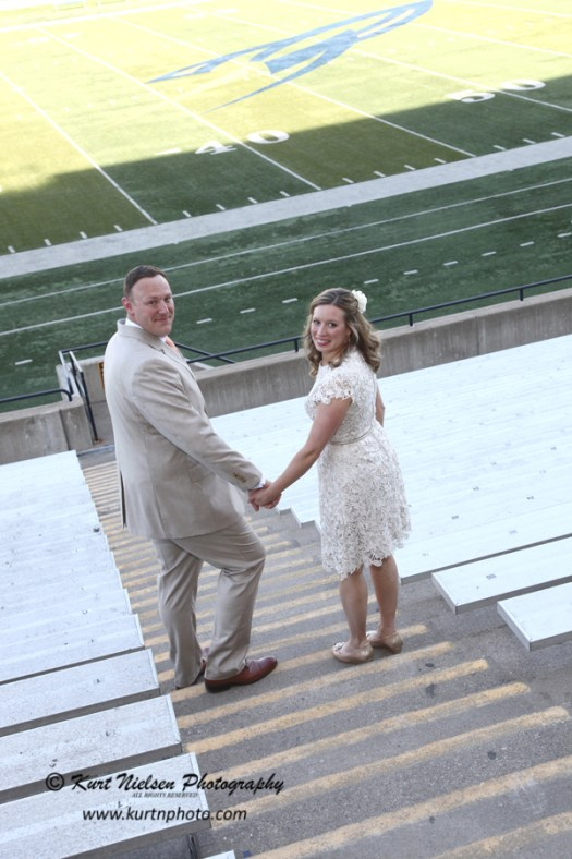 football field weddings